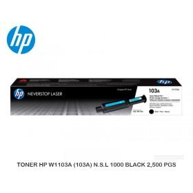 TONER HP W1103A (103A) N.S.L 1000 BLACK 2,500 PGS