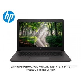 "LAPTOP HP 240 G7 CI3-1005G1, 4GB, 1TB, 14"" HD, FREEDOS 151D5LT-ABM"