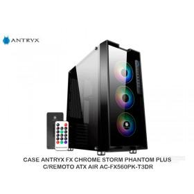 CASE ANTRYX FX CHROME STORM PHANTOM PLUS, C/REMOTO ATX AIR AC-FX560PK-T3DR