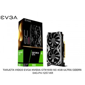 TARJETA VIDEO EVGA NVIDIA GTX1650 SC 4GB ULTRA GDDR6 - 04G-P4-1257-KR