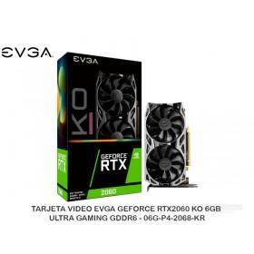 TARJETA VIDEO EVGA GEFORCE RTX2060 KO 6GB ULTRA GAMING GDDR6 - 06G-P4-2068-KR