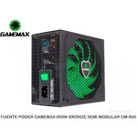 FUENTE PODER GAMEMAX 800W BRONZE SEMI MODULAR GM-800