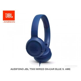 AUDIFONO JBL T500 WIRED ON-EAR BLUE S. AME
