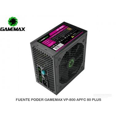 FUENTE PODER GAMEMAX VP-800 APFC 80 PLUS BRONZE