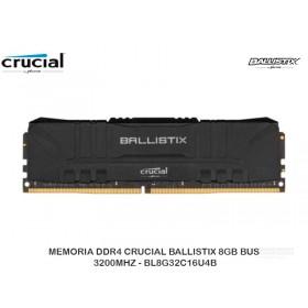 MEMORIA DDR4 CRUCIAL BALLISTIX 8GB BUS 3200MHZ - BL8G32C16U4B