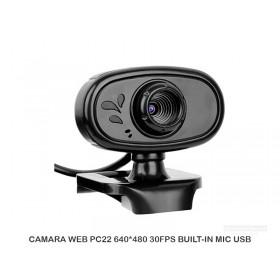 CAMARA WEB PC22 640*480 30FPS BUILT-IN MIC USB