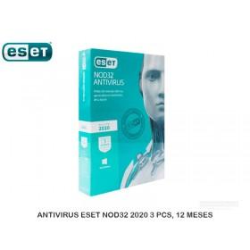 ANTIVIRUS ESET NOD32 2020 3 PCS, 12 MESES