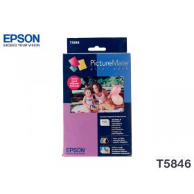 TINTA EPSON PICTUREMATE 200 SERIES PRINT PACK+GLOSY T5846