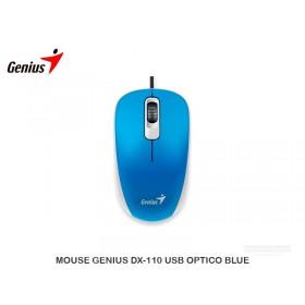 MOUSE GENIUS DX-110 USB OPTICO BLUE