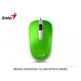 MOUSE GENIUS DX-110 USB OPTICO GREEN