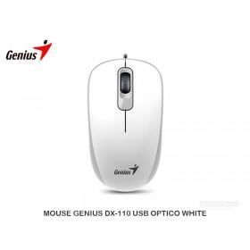 MOUSE GENIUS DX-110 USB OPTICO WHITE