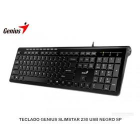 TECLADO GENIUS SLIMSTAR 230 USB NEGRO SP