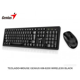 TECLADO+MOUSE GENIUS KM-8200 WIRELESS BLACK