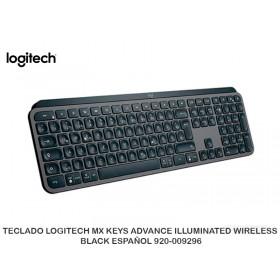 TECLADO LOGITECH MX KEYS ADVANCE ILLUMINATED WIRELESS BLACK ESPAÑOL 920-009296