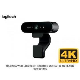 CAMARA WEB LOGITECH B2B BRIO ULTRA HD 4K BLACK 960-001105