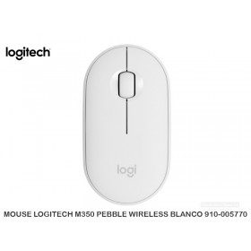 MOUSE LOGITECH M350 PEBBLE WIRELESS BLANCO 910-005770