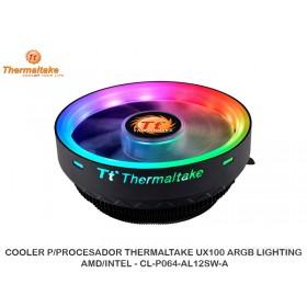 COOLER P/PROCESADOR THERMALTAKE UX100 ARGB LIGHTING, AMD/INTEL - CL-P064-AL12SW-A