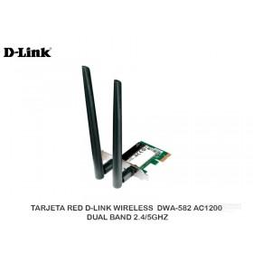 TARJETA RED D-LINK WIRELESS  DWA-582 AC1200 DUAL BAND 2.4/5GHZ