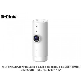 MINI CAMARA IP WIRELESS D-LINK DCS-8000LH, SENSOR CMOS, DIA/NOCHE, FULL HD, 1280P, 112º