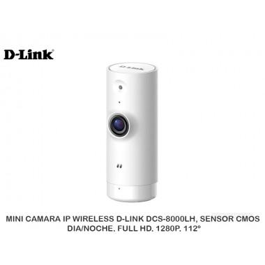 MINI CAMARA IP WIRELESS D-LINK DCS-8000LH, SENSOR CMOS, DIA/NOCHE, FULL HD, 1280P, 112º