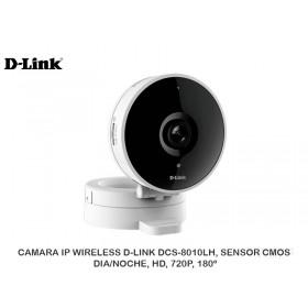 CAMARA IP WIRELESS D-LINK DCS-8010LH, SENSOR CMOS, DIA/NOCHE, HD, 720P, 180º