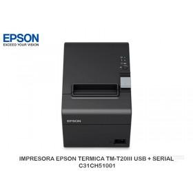 IMPRESORA EPSON TERMICA TM-T20III USB + SERIAL C31CH51001