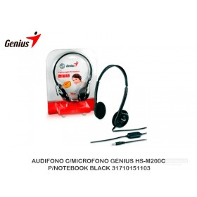 AUDIFONO C/MICROFONO GENIUS HS-M200C P/NOTEBOOK BLACK 31710151103