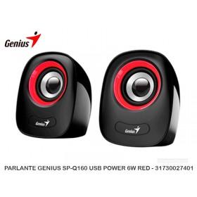 PARLANTE GENIUS SP-Q160 USB POWER 6W RED - 31730027401