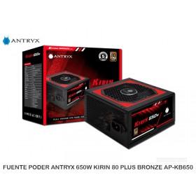 FUENTEPODER ANTRYX650WKIRIN80PLUSBRONZEAP-KB650