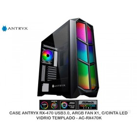 CASEANTRYXRX-470USB3.0,ARGBFANX1,C/CINTALED,VIDRIO TEMPLADO- AC-RX470K
