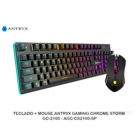 TECLADO + MOUSE ANTRYX GAMING CHROMESTORMGC-2100 - AGC-CS2100-SP