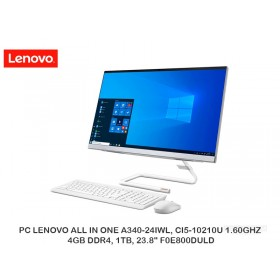 """PC LENOVO ALL IN ONE A340-24IWL, CI5-10210U 1.60GHZ, 4GB DDR4, 1TB, 23.8"""" F0E800DULD"""