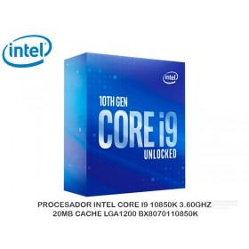 PROCESADOR INTEL CORE I9 10850K 3.60GHZ, 20MB CACHE LGA1200 BX8070110850K