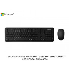 TECLADO+MOUSE MICROSOFT DESKTOP BLUETOOTH, USB NEGRO, QHG-00003