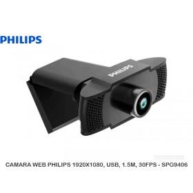 CAMARA WEB PHILIPS 1920X1080, USB, 1.5M, 30FPS - SPG9406