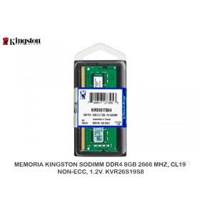MEMORIA KINGSTON SODIMM DDR4 4GB 2400 MHZ, CL17 PC4-19200 KVR24S17S6/4