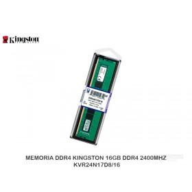 MEMORIA DDR4 KINGSTON 16GB DDR4 2400MHZ KVR24N17D8/16