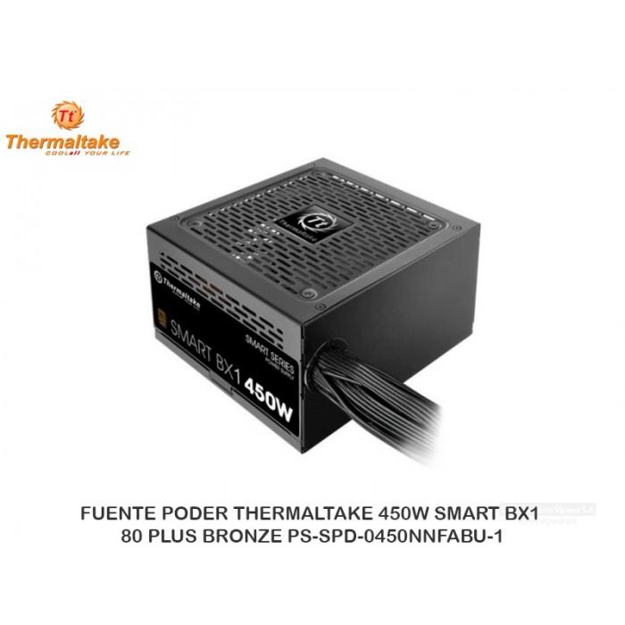 FUENTE PODER THERMALTAKE 450W SMART BX1 80 PLUS BRONZE PS-SPD-0450NNFABU-1