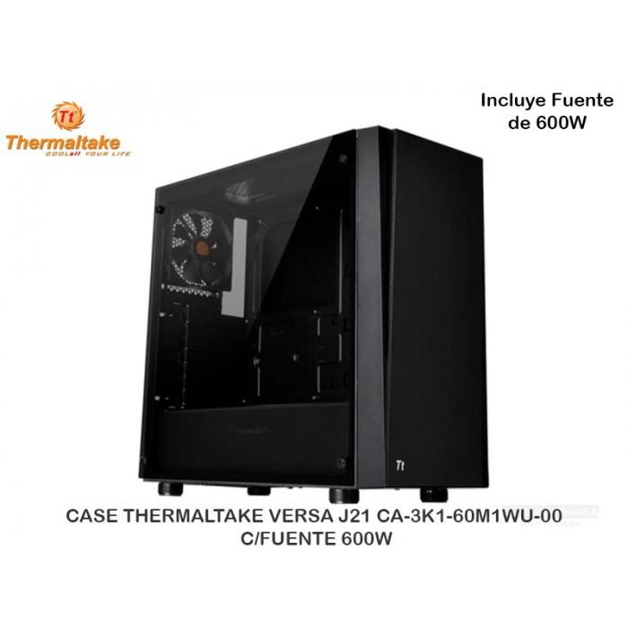 CASE THERMALTAKE VERSA J21 CA-3K1-60M1WU-00 C/FUENTE 600W