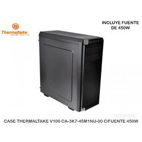 CASE THERMALTAKE V100 CA-3K7-45M1NU-00 C/FUENTE 450W