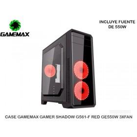 CASE GAMEMAX GAMER SHADOW G561-F RED GE550W 3XFAN