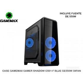 CASE GAMEMAX GAMER SHADOW G561-F BLUE GE550W 3XFAN