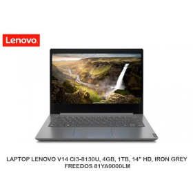 "LAPTOP LENOVO V14 CI3-8130U, 4GB, 1TB, 14"" HD, IRON GREY, FREEDOS 81YA0000LM"