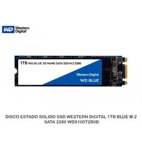 DISCO ESTADO SOLIDO SSD WESTERN DIGITAL 1TB BLUE M.2 SATA 2280 WDS100T2B0B