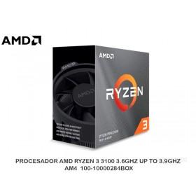 PROCESADOR AMD RYZEN 3 3100 3.6GHZ UP TO 3.9GHZ, AM4  100-10000284BOX