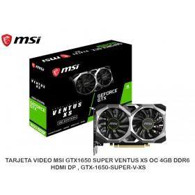 TARJETA VIDEO MSI GTX1650 SUPER VENTUS XS OC 4GB DDR6 HDMI DP , GTX-1650-SUPER-V-XS
