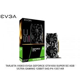 TARJETA VIDEO EVGA GEFORCE GTX1650 SUPER SC 4GB ULTRA GAMING 128BIT 04G-P4-1357-KR