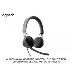 AUDIFONO /CMICROFONO LOGITECH B2B ZONE WIRED UC-GRAPHITE-USB-N/A-AMR-UC 981-000876