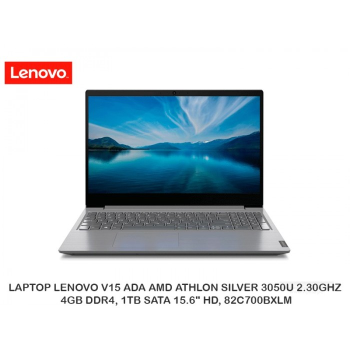 "LAPTOP LENOVO V15 ADA AMD ATHLON SILVER 3050U 2.30GHZ, 4GB DDR4, 1TB SATA 15.6"" HD, 82C700BXLM"