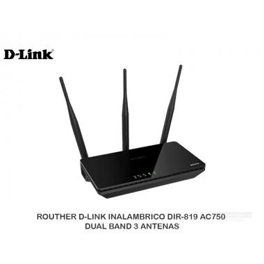 ROUTHER D-LINK INALAMBRICO DIR-819 AC750 DUAL BAND 3 ANTENAS